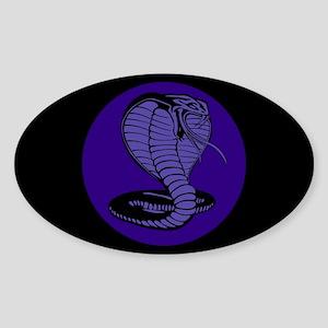 Purple Cobras Oval Sticker