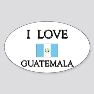 I Love Guatemala Oval Sticker