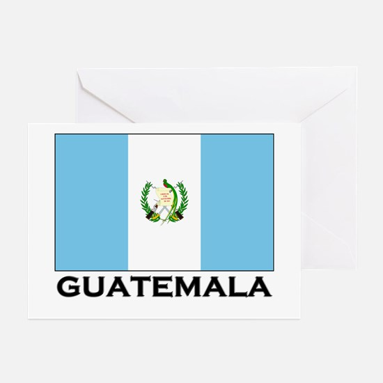 Guatemala Flag Merchandise Greeting Cards (Package