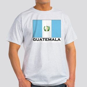 Guatemala Flag Merchandise Ash Grey T-Shirt