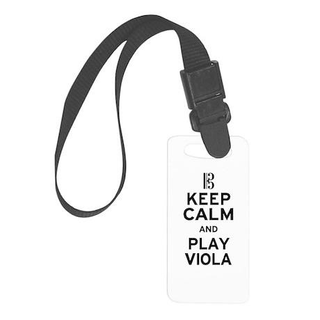 Keep Calm Viola Small Luggage Tag