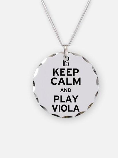 Keep Calm Viola Necklace Circle Charm