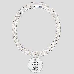 Keep Calm Viola Charm Bracelet, One Charm