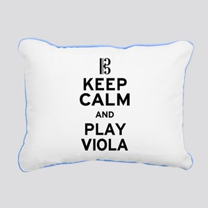 Keep Calm Viola Rectangular Canvas Pillow