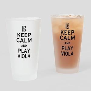 Keep Calm Viola Drinking Glass