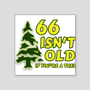 66 Isn't Old, If You're A Tre Square Sticker 3&quo
