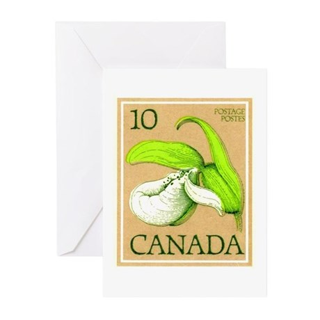 1977 Canada Orchid Postage Stamp Greeting Cards (P