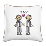 Gay Wedding Grooms Square Canvas Pillow