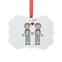 Gay Wedding Grooms Ornament
