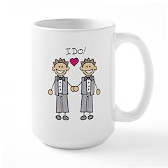 Gay Wedding Grooms Large Mug