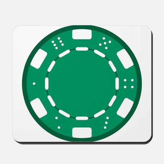 Green Poker Chip Mousepad