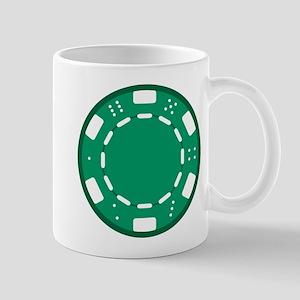 Green Poker Chip Mug
