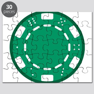 Green Poker Chip Puzzle
