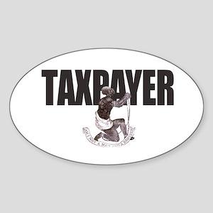 Taxpayer Slave Oval Sticker