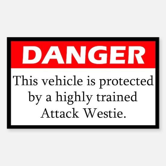 Danger Westie Decal