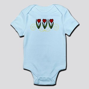 Red Tulips Infant Bodysuit