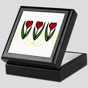 Red Tulips Keepsake Box