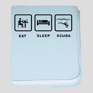 Scuba Diving baby blanket