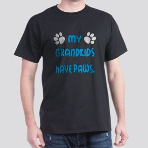 My Grandkids Have Paws Dark T-Shirt