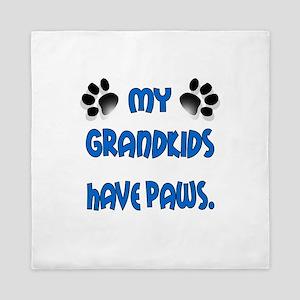 My Grandkids Have Paws Queen Duvet