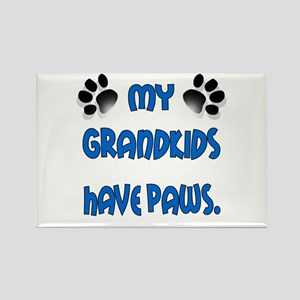 My Grandkids Have Paws Rectangle Magnet