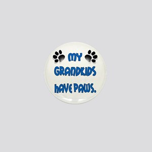My Grandkids Have Paws Mini Button