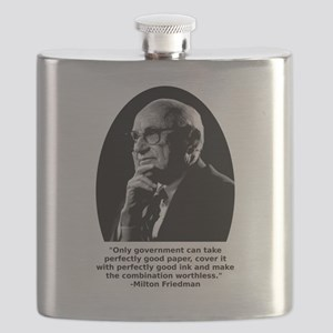 Friedman Paper Quote Flask
