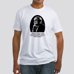 Friedman Paper Quote Fitted T-Shirt
