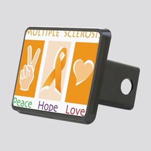 Peace Cure Love Rectangular Hitch Cover