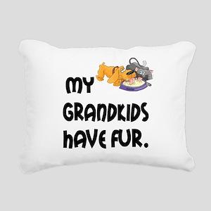 Grandkids Have Fur Rectangular Canvas Pillow