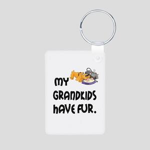 Grandkids Have Fur Aluminum Photo Keychain