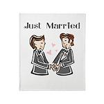 Gay Wedding 2 Grooms Throw Blanket