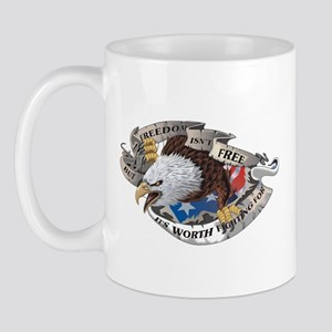 Freedom Isnt Free But Its Worth Fighting For Mug