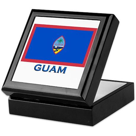 Guam Flag Gear Keepsake Box