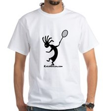 Kokopelli Tennis Player White T-Shirt