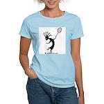 Kokopelli Tennis Player Women's Pink T-Shirt