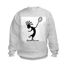 Kokopelli Tennis Player Kids Sweatshirt