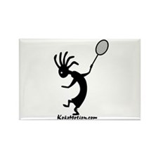 Kokopelli Tennis Player Rectangle Magnet (10 pack)