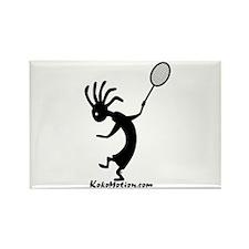 Kokopelli Tennis Player Rectangle Magnet (100 pack