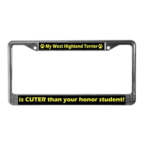 Honor West Highland Terrier License Plate Frame