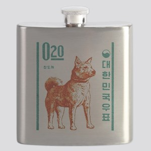1962 Korea Jindo Dog Postage Stamp Flask