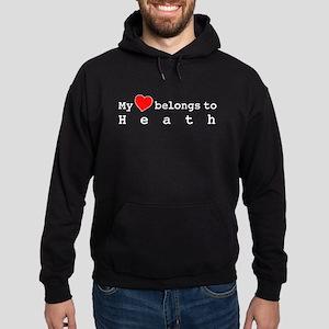 My Heart Belongs To Heath Hoodie (dark)