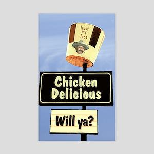Chicken Delicious willya? Rectangle Sticker