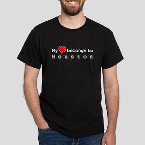 My Heart Belongs To Houston Dark T-Shirt
