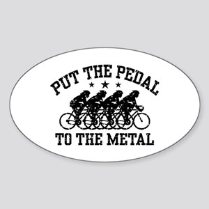 Pedal To The Metal (female) Sticker (Oval)