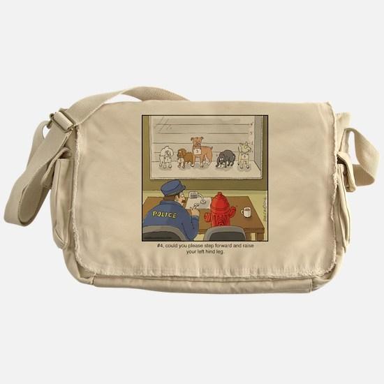 Dog Lineup Messenger Bag