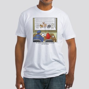 Dog Lineup Fitted T-Shirt
