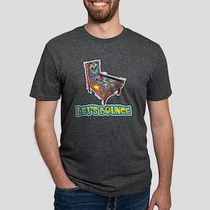 Lets Bounce Pinball Machine Mens Tri-blend T-Shirt