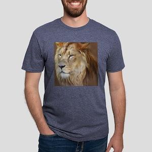 Painting Lion Mens Tri-blend T-Shirt