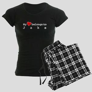 My Heart Belongs To Jake Women's Dark Pajamas